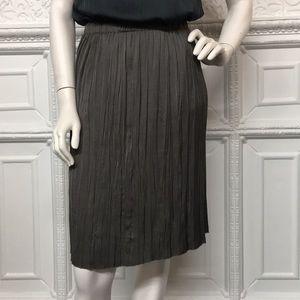Lanvin Skirts - Lanvin Green Top Grey Skirt Pleated Set